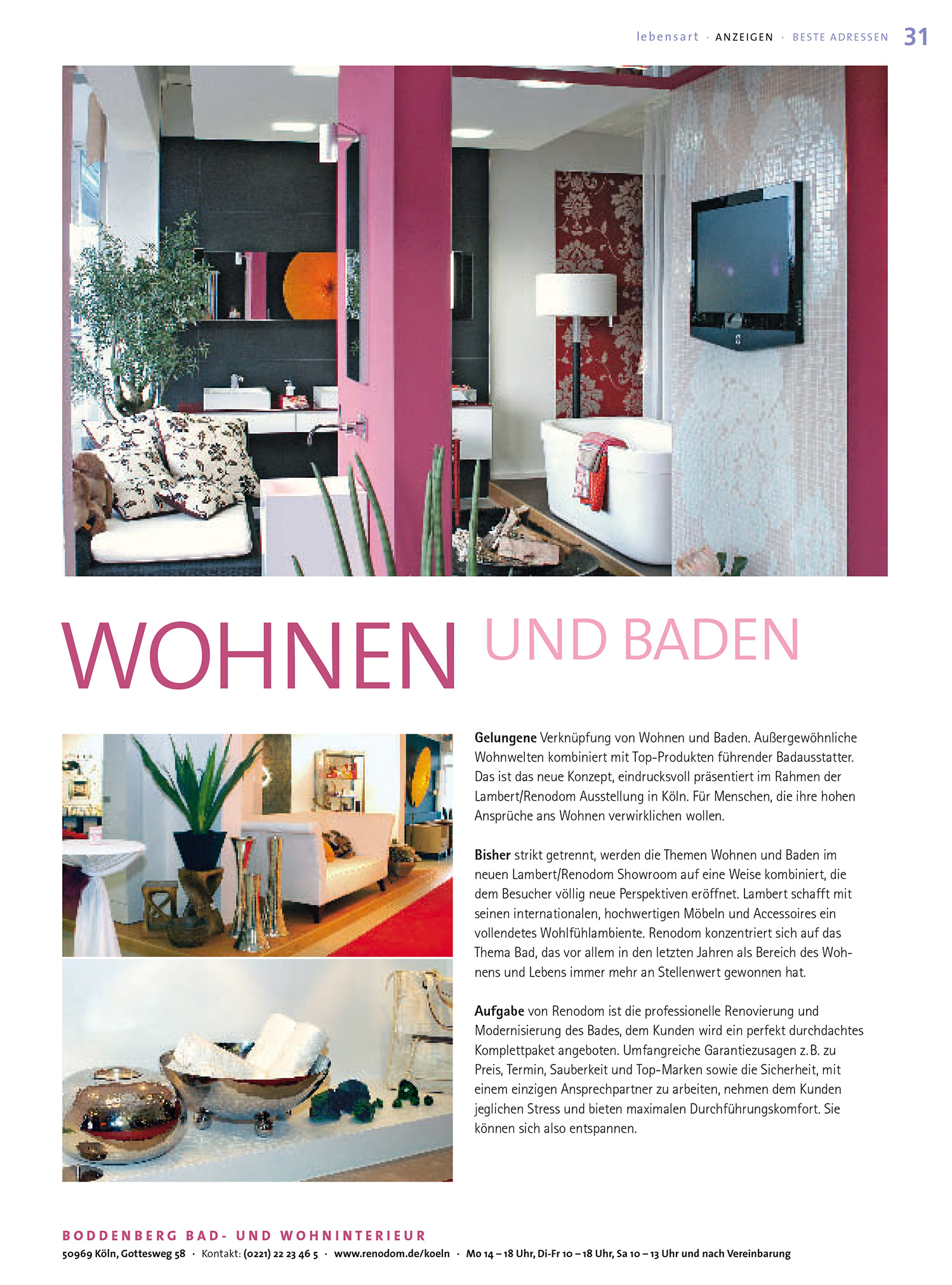 Boddenberg Mediaplanung Anzeige