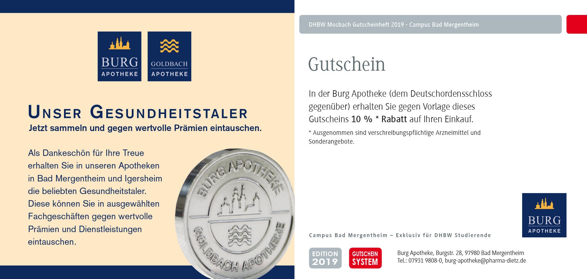 DHBW Mosbach Coupon Apotheke