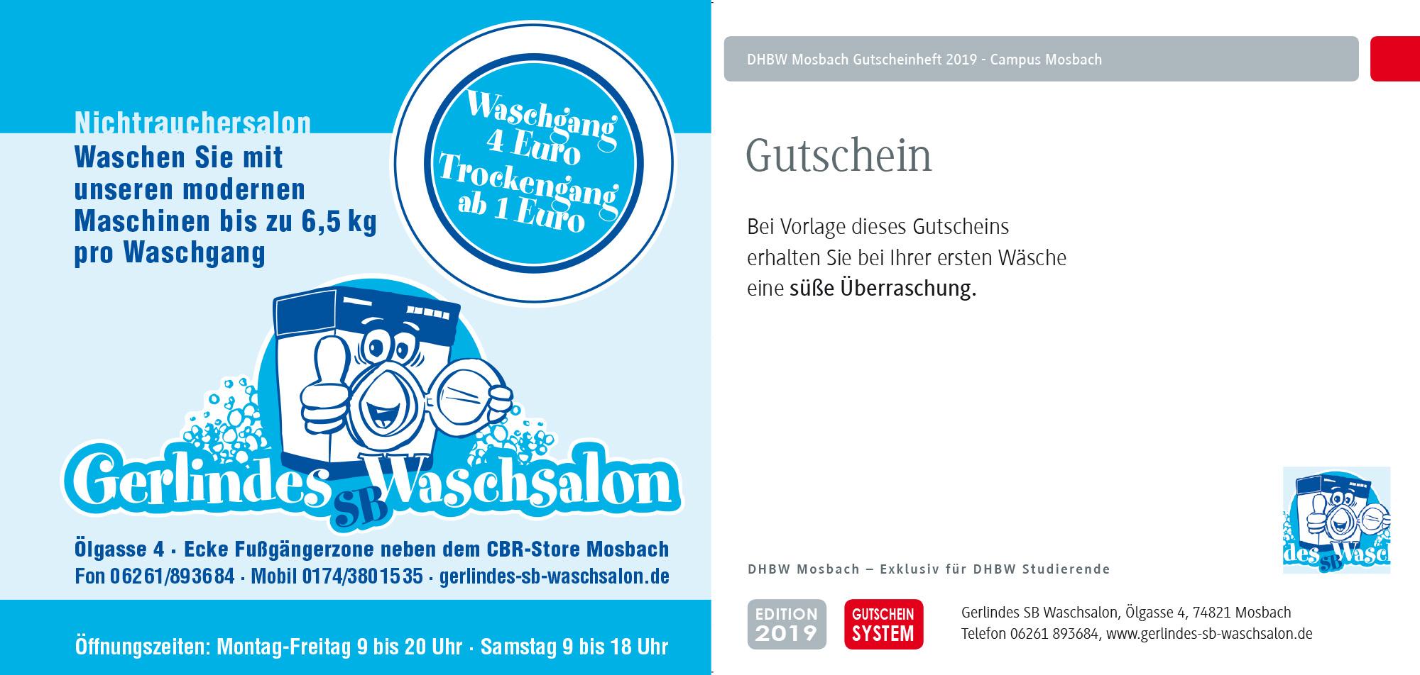 DHBW Mosbach Coupon Waschsalon