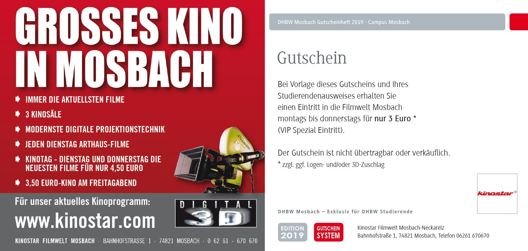 DHBW Mosbach Coupon Kino
