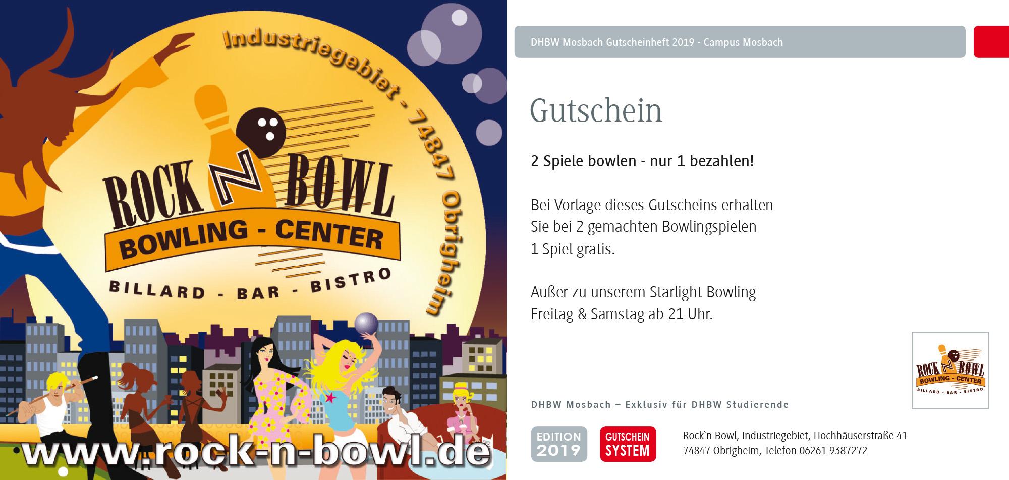 DHBW Mosbach Coupon Bowling