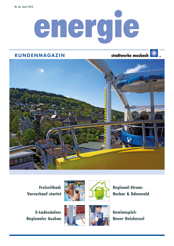 Stadtwerke Mosbach Kundenmagazin Titel